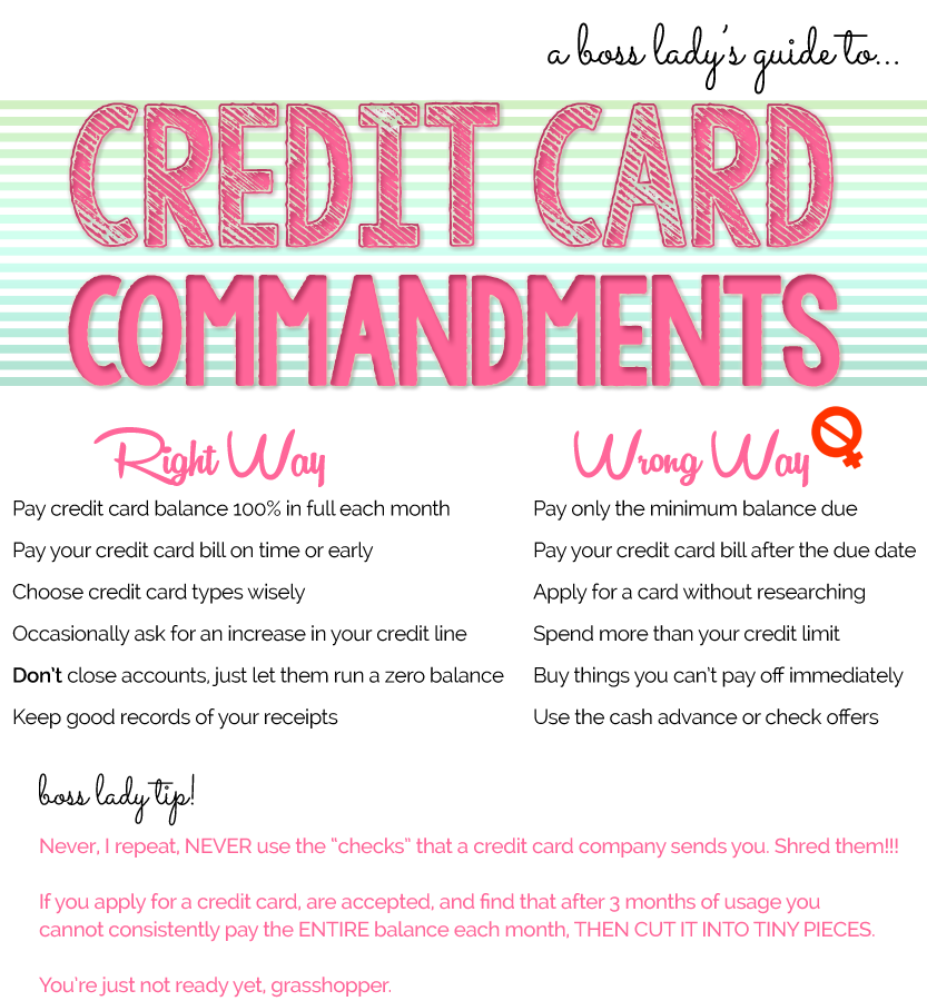 The Boss Lady's Guide to Responsible Credit Card Usage | THINK LIKE A BOSS LADY | thinklikeabosslady.com