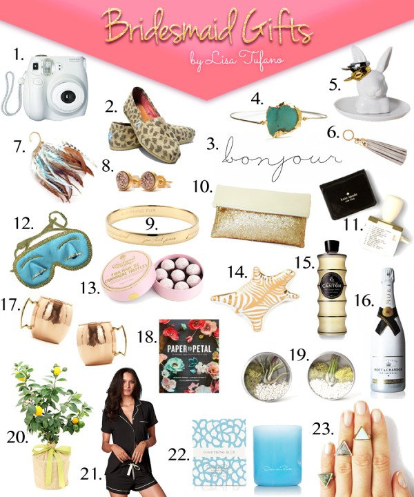Best Bridesmaids Gift Guide |THINK LIKE A BOSS LADY | thinklikeabosslady.com