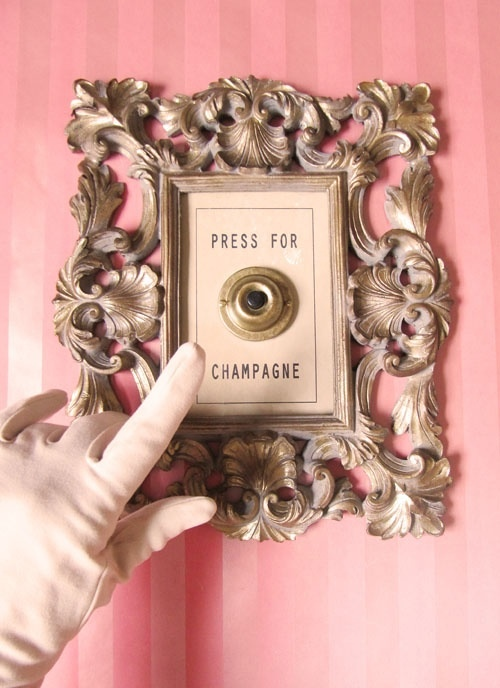 Press Here for Champagne Doorbell, by Lisa Golightly - inspired by Montage Film Noire Suite @ Montage Beverly Hills