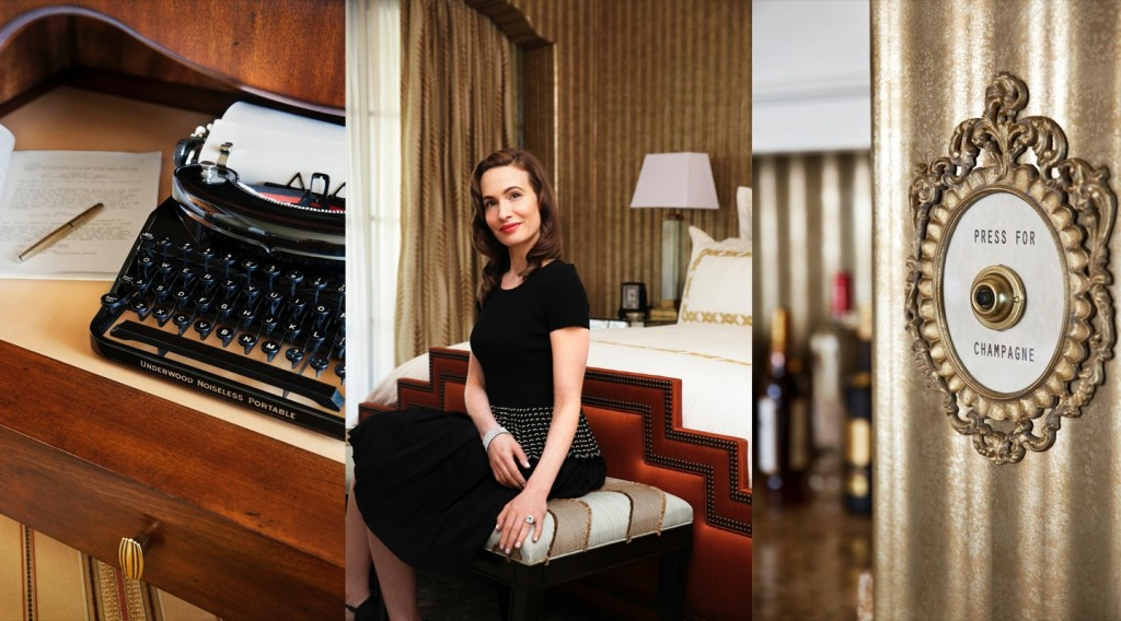 Beverly Hills Montage Hotel - Film Noir Suite - images used with their permission | THINK LIKE A BOSS LADY, created by Lisa Tufano | #montage #montagebeverlyhills #pressforchampagne #pressforchampagnebutton #champagne #filmnoir #beverlyhills #uniquehotels