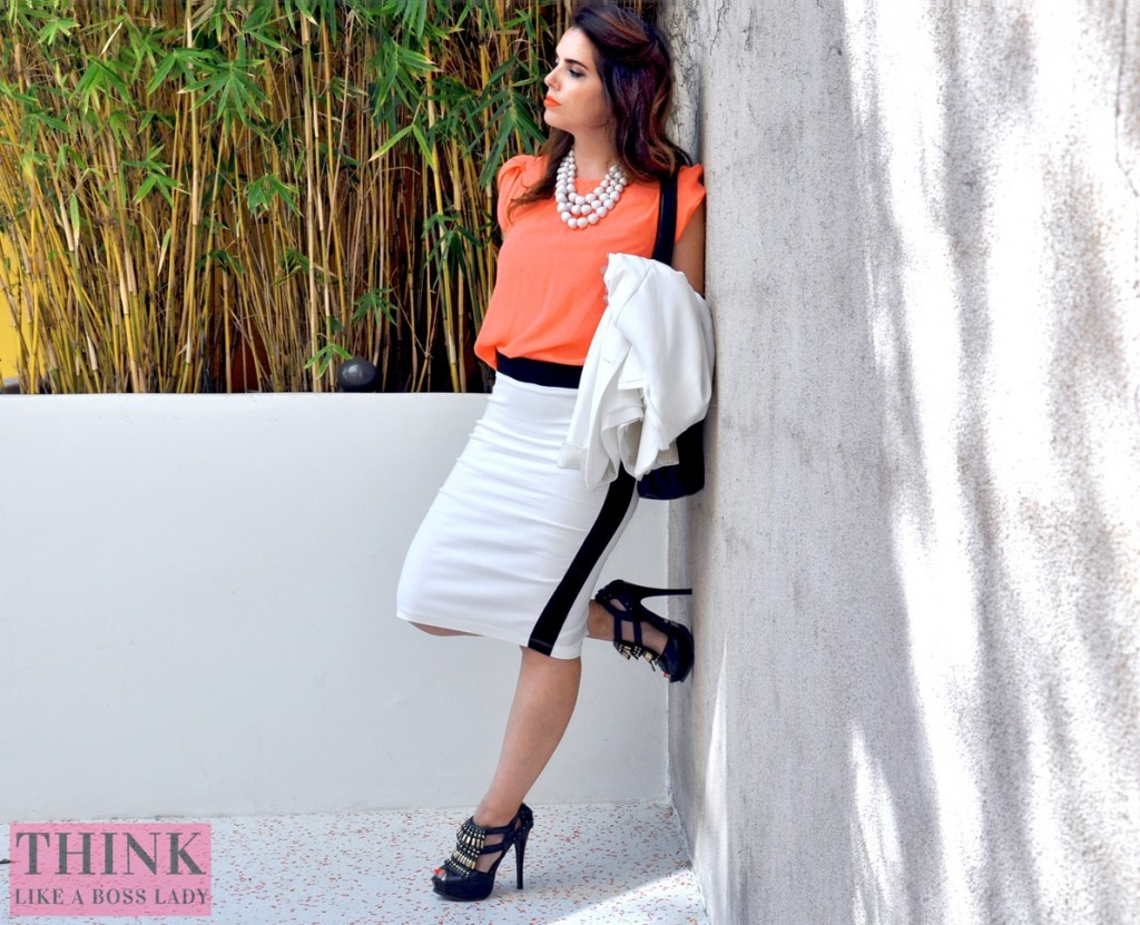 The Boss Lady  - Crazy for Coral and Color Blocking   Fashion Lookbook Idea   Think Like a Boss Lady, by Lisa Tufano