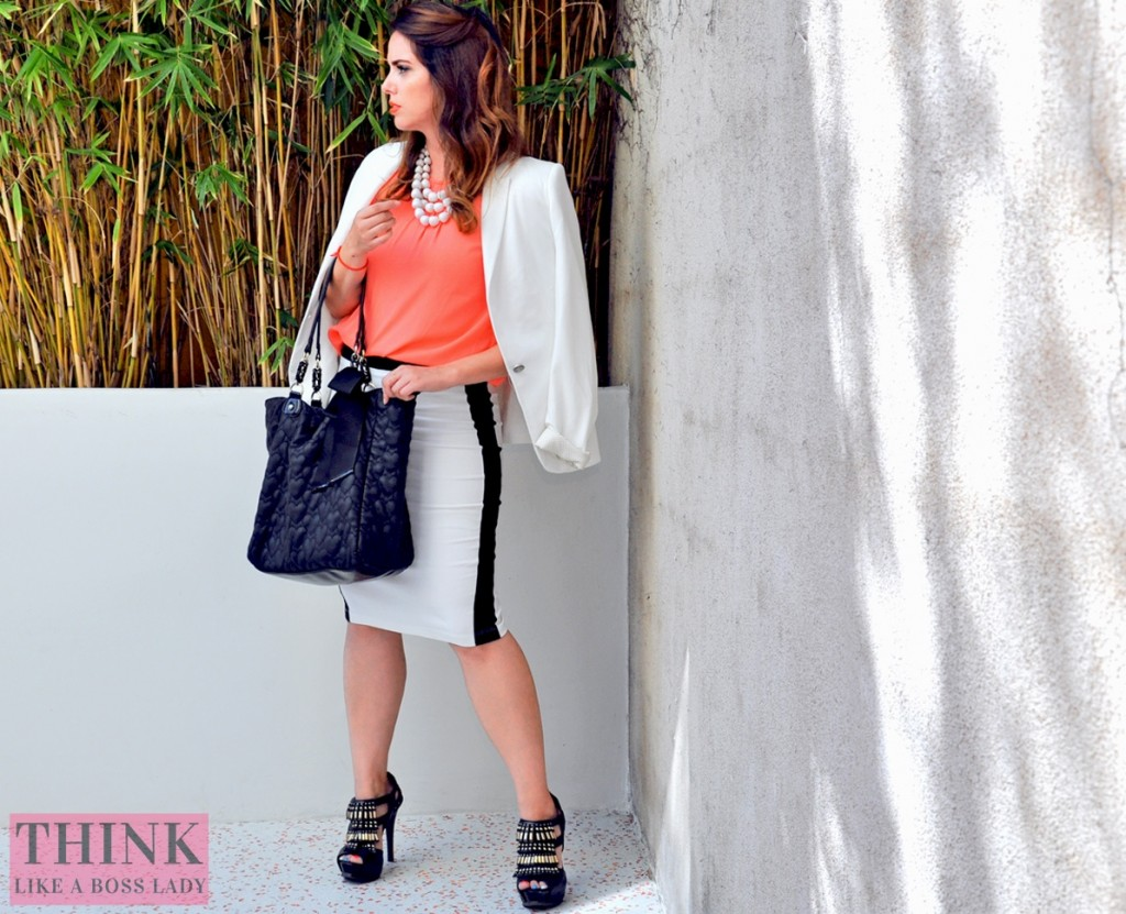 The Boss Lady  - Crazy for Coral and Color Blocking | Fashion Lookbook Idea | Think Like a Boss Lady, by Lisa Tufano