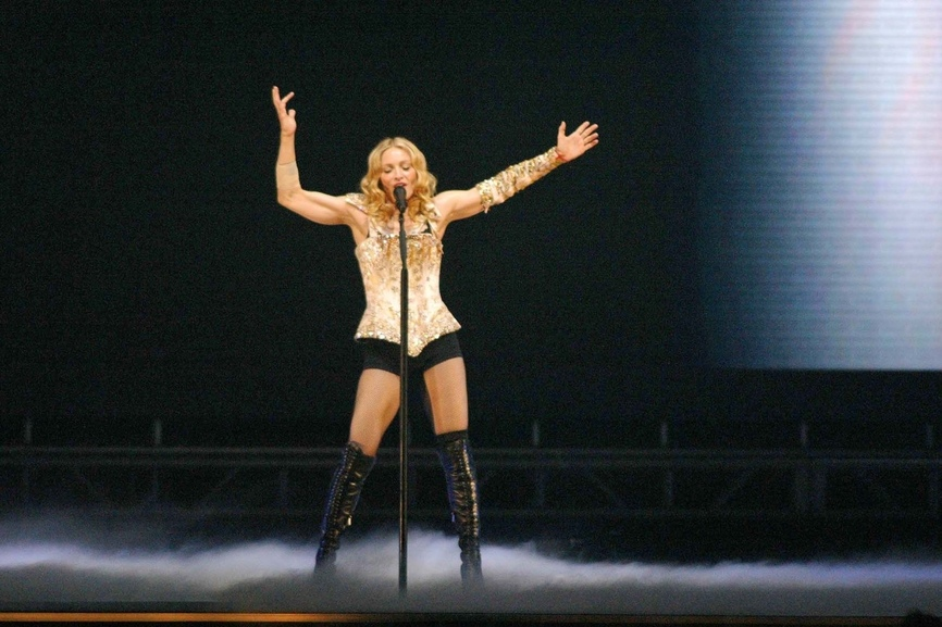 "at the opening night of Madonna's ""Reinvention Tour - 2004"" at The Forum, Inglewood, CA. 05-24-04"