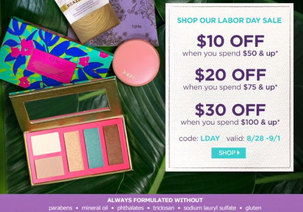 Tarte Discount Code - Labor Day Sale - THINK LIKE A BOSS LADY