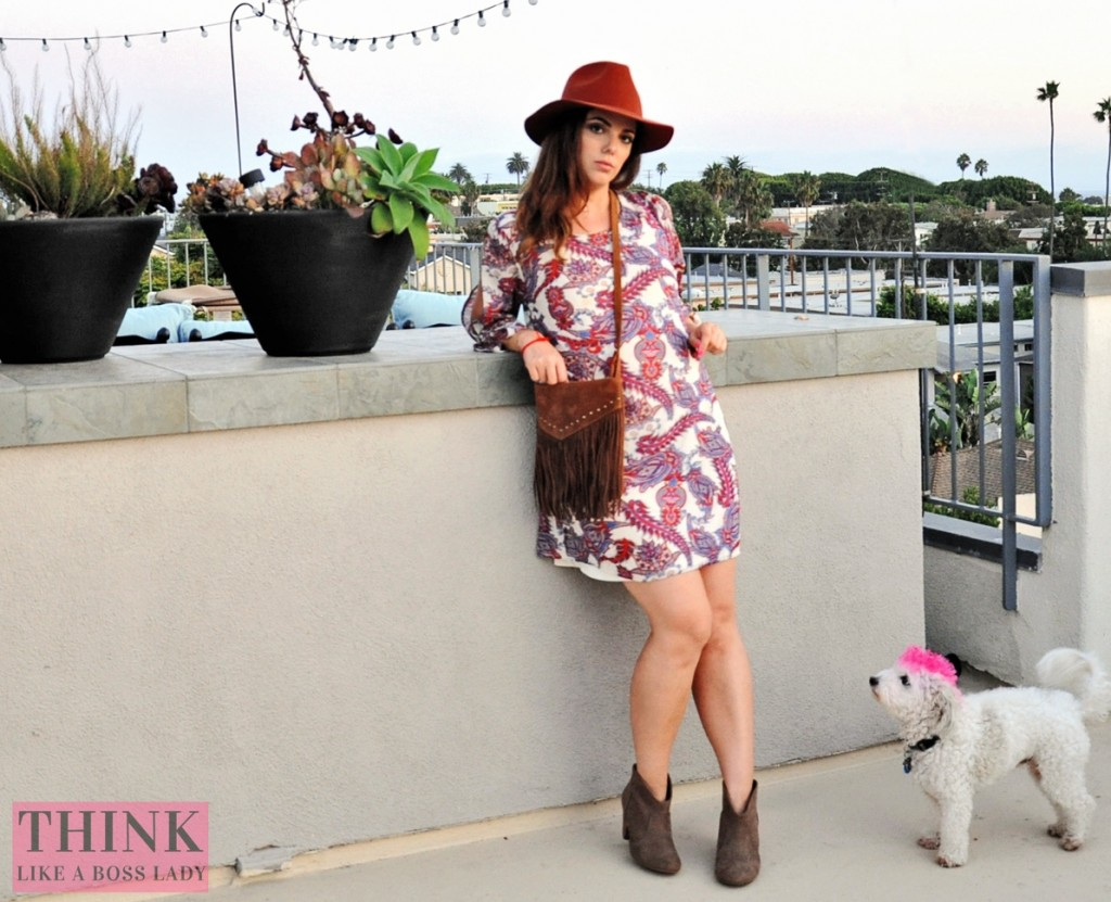 Paisley Print Tunic | Think Like a Boss Lady, by Lisa Tufano | thinklikeabosslady.com #paisley #indian #boho #gypsy #fashionista #ootd