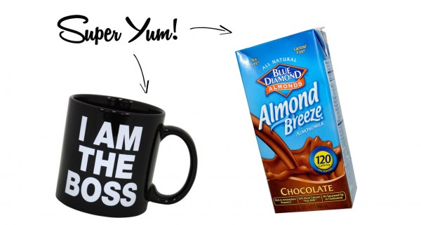 Chocolate Almond Milk in Coffee = Super Yum!
