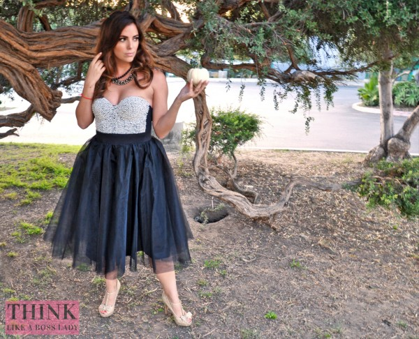 Bewitching Tulle Tutu Skirt and Pearl Beaded Bustier | Halloween Inspired Lookbook | THINK LIKE A BOSS LADY, by Lisa Tufano #fashion #styleblogger #halloween #ballerina #tutu #tulle #bustier #windsorstore