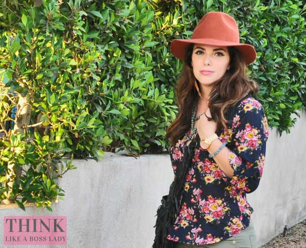 Wool Fedora and Floral for Fall | THINK LIKE A BOSS LADY, by Lisa Tufano #ootd #styleblogger #fashion