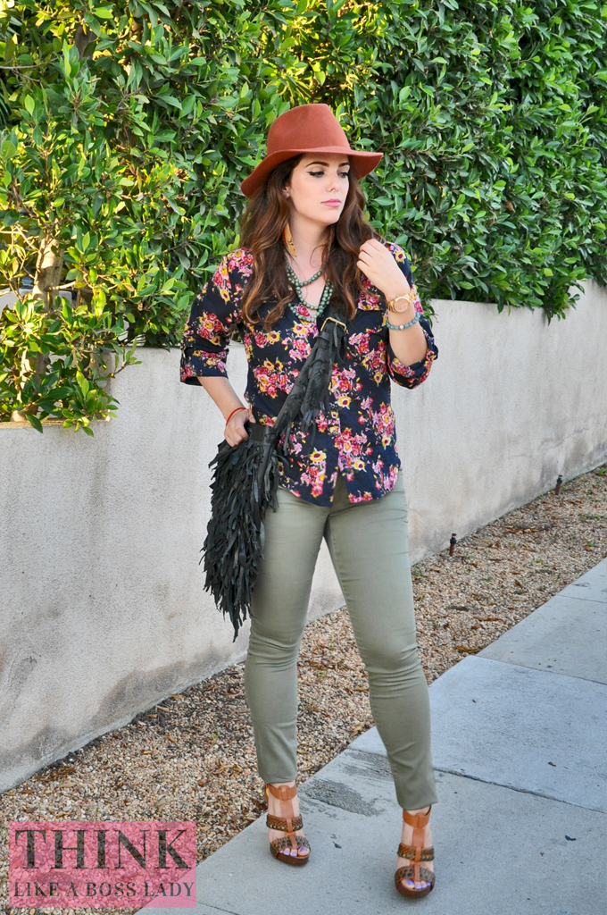 Floral for Fall | THINK LIKE A BOSS LADY, by Lisa Tufano #ootd #styleblogger #fashion