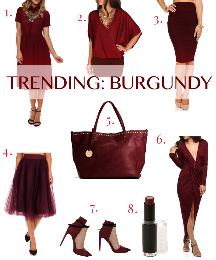 Fall Fashion Trend: Burgundy | THINK LIKE A BOSS LADY by Lisa Tufano #oxblood #burgundy #fashion