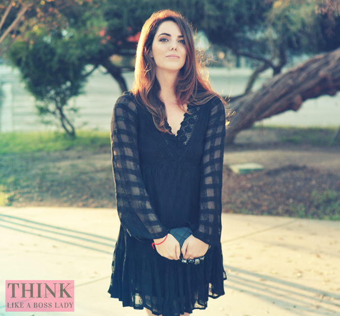 Bewitched Babydoll Dress from Free People | modeled by Lisa Tufano of thinklikeabosslady.com