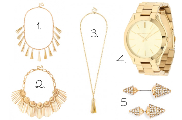 Budget friendly gold accessories ideas for Fall 2014 that won't break the bank