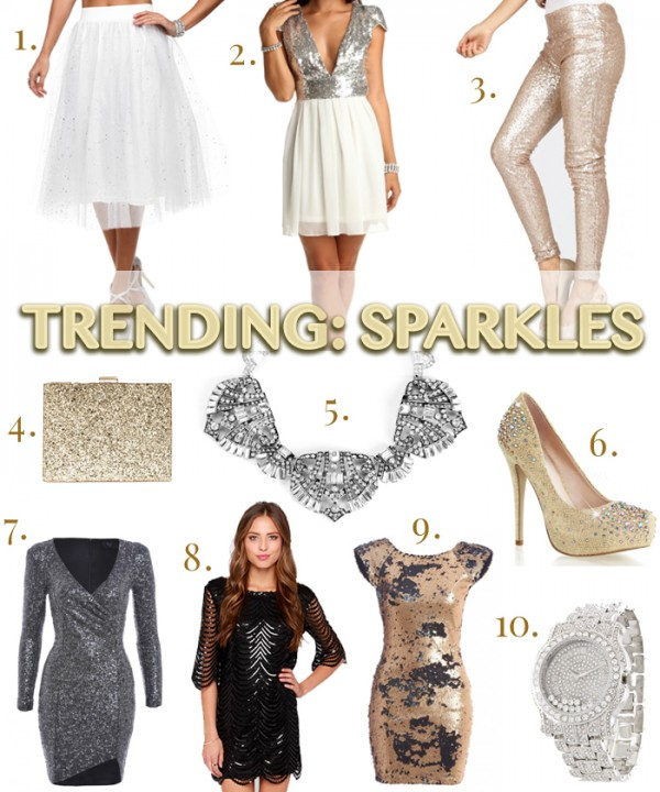 TRENDING: SPARKLES | a fashion lookbook created by style blogger and budget shopper: Lisa Tufano