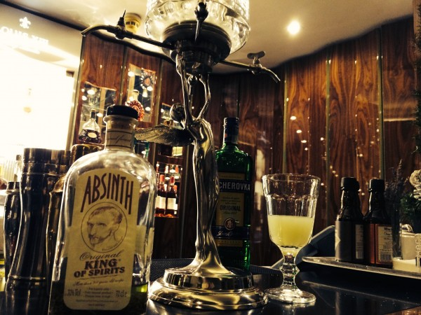 Absinthe cocktails in the Golden Well Hotel in Prague