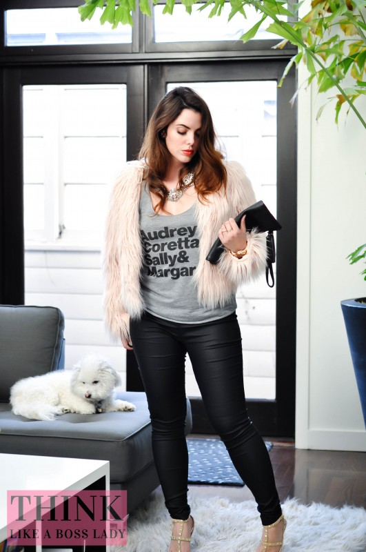 Super Rolemodel t-shirt inspired by Missguided and Super Chixx Supermodel T-shirt (formerly Claudia, Naomi, Cindy and Kate) -- designed by Lisa Tufano of Think Like a Boss Lady