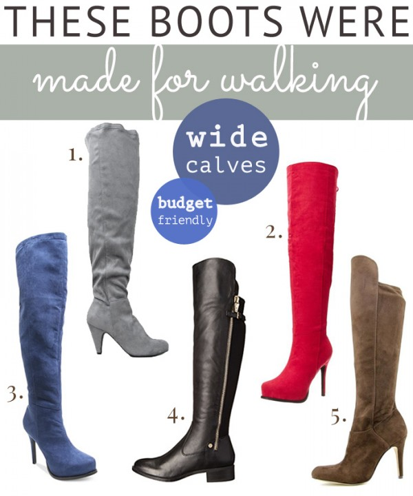 Budget-Friendly Over-the-Knee Boots (Wide Calves) | THINK LIKE A ...