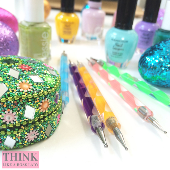 Easter Pastel Polka Dot Nail Tutorial ℅ Lisa Tufano at THINK LIKE A BOSS LADY