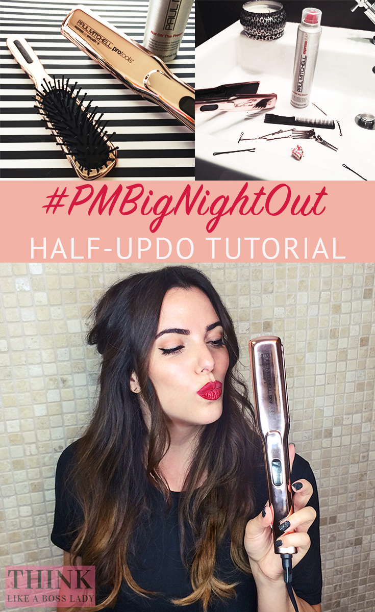 Paul Mitchel #BigNightOut Half-Updo Tutorial by Lisa Tufano