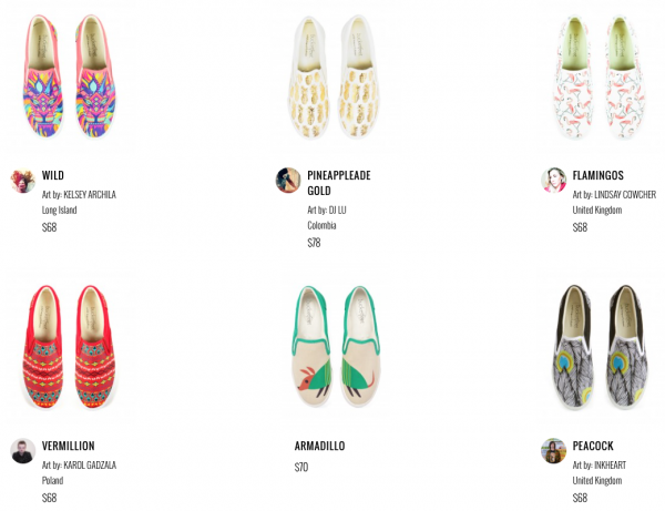 Colorful Shoe Designs by BucketFeet