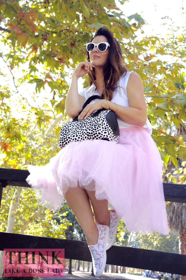Flamingo Shoes by BucketFeet featuring Lisa Tufano of THINK LIKE A BOSS LADY