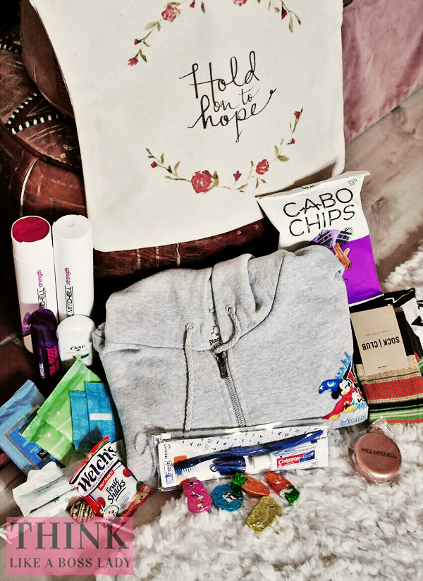 """Care Kits"" for victims of sex trafficking - November Philanthropy Project with Think Like a Boss Lady and Charity Girl Problems"