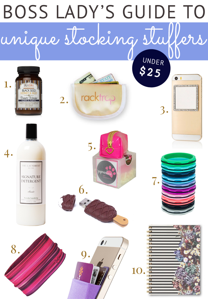 Boss Lady Holiday Gift Guide 2015 - Stocking Stuffers Under $20
