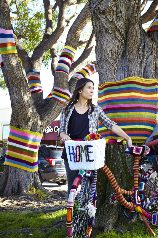 Handmade Mimi Yarn Bomb for International Women's Day