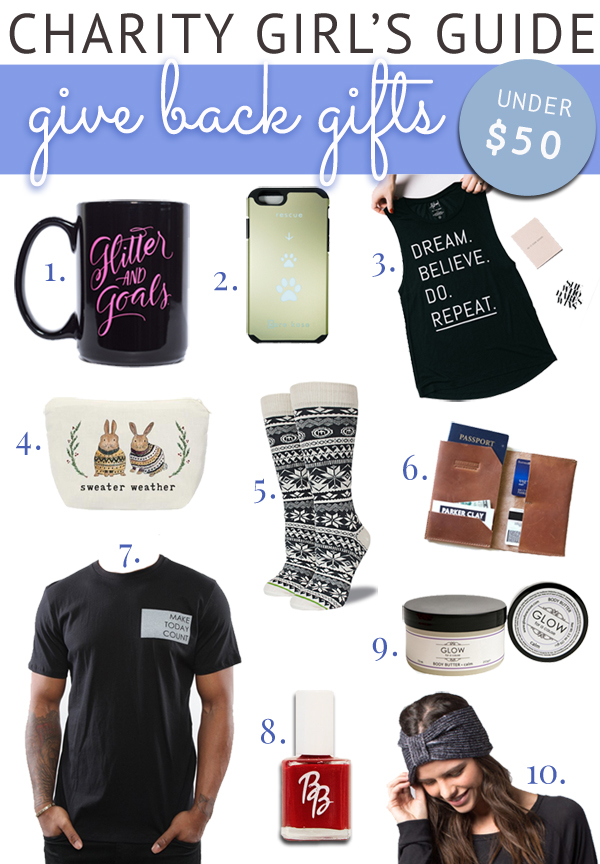 Gifts under $50 that give back to charity!